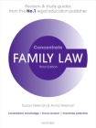 Family Law Concentrate: Law Revision and Study Guide Cover Image