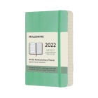 Moleskine 2022 Weekly Planner, 12M, Pocket, Ice Green, Soft Cover (3.5 x 5.5) Cover Image