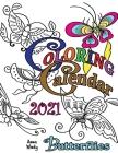 Coloring Calendar 2021 Butterflies Cover Image