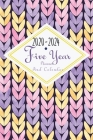 2020-2024 Five Year Planner And Calendar: 5 Year Pocket Monthly Schedule Organizer, 60 Month Calendar with Holidays, Knit Purple Cover Image