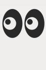 Ghost Emoji Eyes Halloween Journal Cover Image