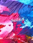 Sketchbook Abstract Cover: Notebook for Drawing, Painting, Writing, Sketching or Doodling, 120 Pages, 8.5x11 (Premium Abstract Cover vol.2) Cover Image