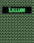 120 Page Handwriting Practice Book with Green Alien Cover Lillian: Primary Grades Handwriting Book Cover Image