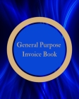 General Purpose Invoice Receipt Quote Estimate - Carbonless Book - Blue, Dark, Gold, Brown - Abstract Geometric Cover Cover Image