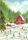 Country Skating Small Boxed Holiday Cards Cover Image