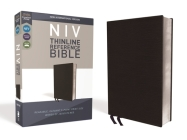 NIV, Thinline Reference Bible, Bonded Leather, Black, Red Letter Edition, Comfort Print Cover Image
