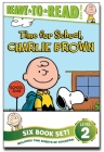 Peanuts Ready-to-Read Value Pack: Time for School, Charlie Brown; Make a Trade, Charlie Brown!; Lucy Knows Best; Linus Gets Glasses; Snoopy and Woodstock; Snoopy, First Beagle on the Moon! Cover Image