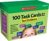 100 Task Cards in a Box: Text Evidence: Mini-Passages With Key Questions to Boost Reading Comprehension Skills Cover Image