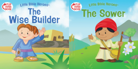The Wise Builder/The Sower (flip-over) (Little Bible Heroes™) Cover Image