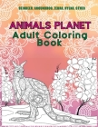 Animals Planet - Adult Coloring Book - Reindeer, Groundhog, Zebra, Hyena, other Cover Image