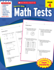 Scholastic Success With Math Tests: Grade 4 Workbook Cover Image