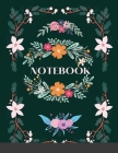 Notebook - Green and Pink Floral Cover Image