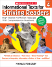 Informational Texts for Striving Readers: Grade 4: High-Interest Nonfiction Passages With Comprehension Questions Cover Image