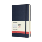 Moleskine 2022  Daily Planner, 12M, Large, Sapphire Blue, Hard Cover (5 x 8.25) Cover Image