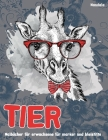 Malbücher für Erwachsene für Marker und Bleistifte - Mandala - Tier Cover Image