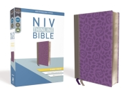 NIV, Thinline Bible, Giant Print, Imitation Leather, Gray/Purple, Red Letter Edition Cover Image