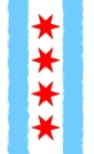 Chicago Flag Watercolor Sketchbook Cover Image