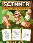 Scimmie Libro da Colorare per Bambini: Grande libro di scimmie per ragazzi, ragazze e bambini. Regali perfetti per bambini e ragazzi che amano giocare Cover Image
