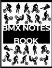 BMX Notes Book: silhouette BMX noir et blanc - A4 Cover Image
