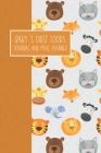 Baby's First Foods Journal and Meal Planner: Weaning Diary Keepsake - Animals Orange Cover Image