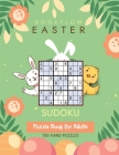 Bookflow Easter Sudoku: Sudoku puzzle book for adults with 100 hard puzzles Cover Image