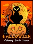 Halloween Coloring Books Disney: Best Halloween Designs Including Witches, Ghosts, Pumpkins, Vampires, Haunted Houses, Zombies, Skulls, and More!Activ Cover Image
