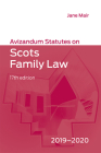 Avizandum Statutes on Scots Family Law: 2019-20 Cover Image
