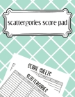 scattergories score pad: scattergories score sheets to keep tracking of who ahead in your favorite creative thinking. Cover Image