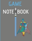 Game Note Book: Log book for games or game notebook with index 8,5X11 INCHES, 100 pages. Cover Image