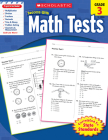Scholastic Success With Math Tests: Grade 3 Workbook Cover Image