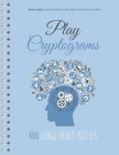 Play Cryptograms: Beginner cryptograms, easy medium cryptograms, cryptogram families puzzle books, simple cryptograms Cover Image