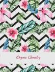 Organic Chemistry: Beautiful Floral Design, 1/4 inch Hexagons Graph Paper Notebooks Large Print 8.5
