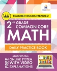2nd Grade Common Core Math: Daily Practice Workbook - Part I: Multiple Choice 1000+ Practice Questions and Video Explanations Argo Brothers: Daily Cover Image