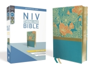 NIV, Thinline Bible, Giant Print, Imitation Leather, Blue, Red Letter Edition Cover Image