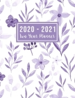 2020-2021 Two Year Planner: 2020-2021 two year planner flower watecolor cover - Jan 2020 - Dec 2021 - 24 Months Agenda Planner with Holiday - Pers Cover Image