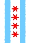Chicago Flag Watercolor Sketchbook Cover Image