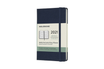 Moleskine 2021 Weekly Horizontal Planner, 12M, Pocket, Sapphire Blue, Hard Cover (3.5 x 5.5) Cover Image