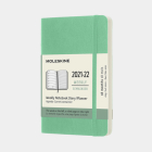 Moleskine 2021-2022 Weekly Planner, 18M, Pocket, Ice Green, Soft Cover (3.5 x 5.5) Cover Image