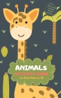 Animals Activity Book for Kids Ages 4-8 Stocking Stuffers Pocket Edition: Giraffe Theme A Fun Kid Workbook Game for Learning, Coloring, Mazes, Sudoku Cover Image