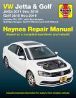 VW Jetta and Golf Haynes Repair Manual: Jetta 2011 thru 2018 * Golf 215 thru 2019 * Includes GLI, GTI, Jetta Sportwagen, Golf Sportwagen, Golf R 4Motion and Golf Alltrack (Haynes Automotive) Cover Image
