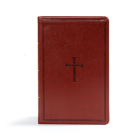 CSB Ultrathin Reference Bible, Brown LeatherTouch Cover Image