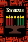 Kwanzaa: African Fabric Background Kinara Candle Color Page Inteiors Guided Prompt Lined Journal Affirmations Thoughts Gratitud Cover Image