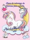 Livre de coloriage de licornes pour enfants: Livre de dessins adorables de licornes, 50 dessins adorables de licornes pour garçons et filles, livre d' Cover Image