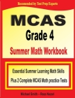 MCAS Grade 4 Summer Math Workbook: Essential Summer Learning Math Skills plus Two Complete MCAS Math Practice Tests Cover Image