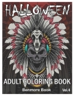 Halloween: Adult Coloring Book with Beautiful Flowers, Adorable Animals, Spooky Characters, and Relaxing Fall Designs Volume 4 Cover Image