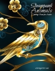 Steampunk Animals Coloring Book for Adults Cover Image