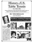 History of U.S. Table Tennis Volume 13 Cover Image
