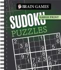 Brain Games - Large Print: Sudoku Puzzles (Dark Gray) Cover Image