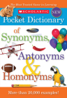Scholastic Pocket Dictionary of Synonymsntonyms, Homonyms Cover Image