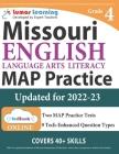 Missouri Assessment Program Test Prep: Grade 4 English Language Arts Literacy (ELA) Practice Workbook and Full-length Online Assessments: MAP Study Gu Cover Image